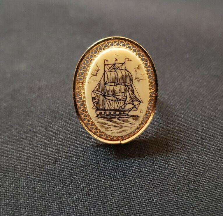 Vintage bovine gold fill ring