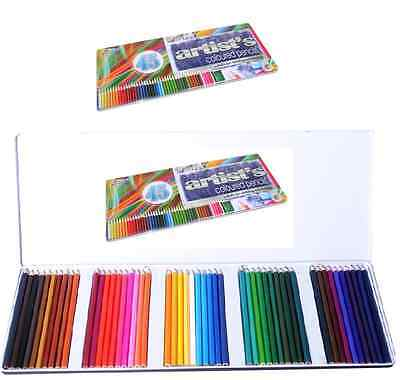 TIN OF 45 COLOURED PENCILS ARTIST COLOUR SHADES DRAW & SKETCH BACK TO SCHOOL (Sunglasses To Draw)