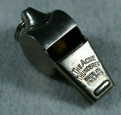 VINTAGE WHISTLE THE ACME THUNDERER GEMSCO MADE IN ENGLAND