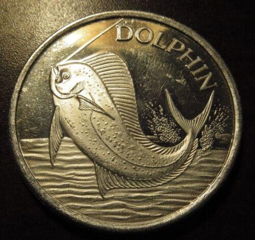 Vintage Dolphin 1 Troy Oz. .999 Silver Round - AMC