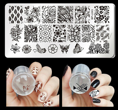 3Pcs/set Born Pretty Nail Art Stamping Plate Butterfly Theme Stamper Scraper Kit for sale  Shipping to Ireland
