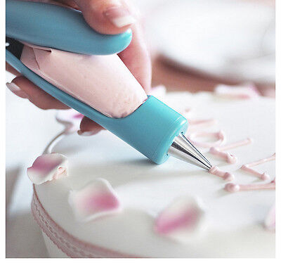 Pastry Icing Pen Set Piping Bag Nozzle Tips Fondant Cake Sugar Craft Decorating