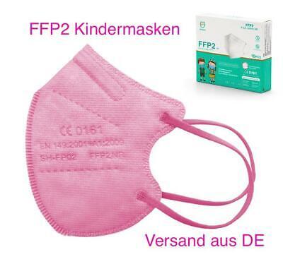 10x FFP2 KINDERMASKE Maske Pink für Kinder Atemschutz Nasenschutz EU CE