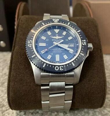 Breitling Superocean 44 Special Y17393 Stainless Steel Men's Watch 2018 Box MINT