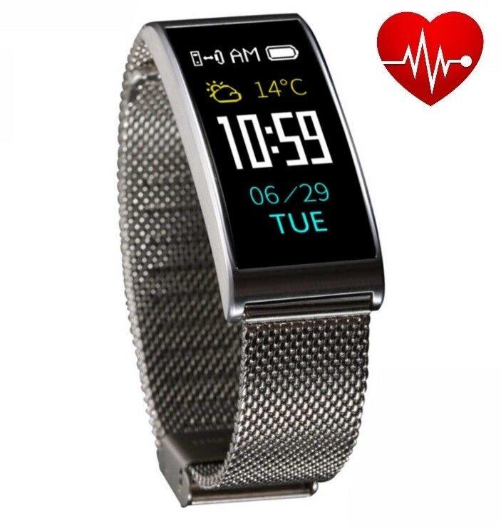 Smartband X3HR Silber Smartwatch Farbdisplay Pulsuhr..
