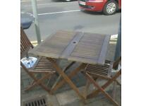 Garden table and 2 chairs free delivery in Leicester