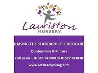 Full Time Nursery Nurse, Bank Staff & Maternity Cover