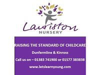 Full-time Nursery Nurse Practitioner @ Dunfermline