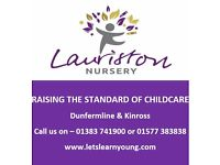 Full Time Nursery Nurse, Bank Staff & Maternity Cover