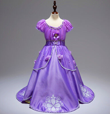 Gorgeous Sofia The First Costume Girls Princess Dress Gown 3-10 (Sofia The First Dress)