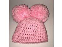 Handmade Pom Pom Hats