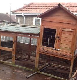 SORRY SOLD. VERY LARGE RABBIT HUTCH