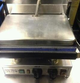 VELOX SILESIA SINGLE CONTACT PANINI GRILL/ TOASTER. WILL COOK STEAKS, OMELETTES ETC