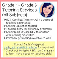 OCT Certified Tutor and Reading Improvement Services (Grade 1-8)