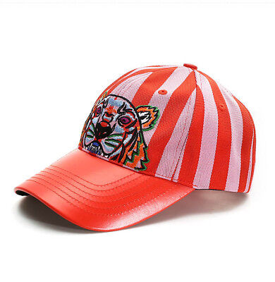 97672c75099 KENZO Tiger Cap Womens Mens Red Pink Hat 5AC301 B20 32 Adjustable Authentic  Gift
