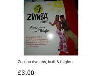Zumba abs, thighs & butts dvd
