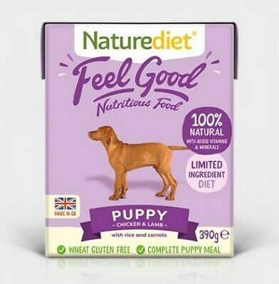NATUREDIET PUPPY Dog Food x 36 Complete Dog Food For Puppies FEEL GOOD!