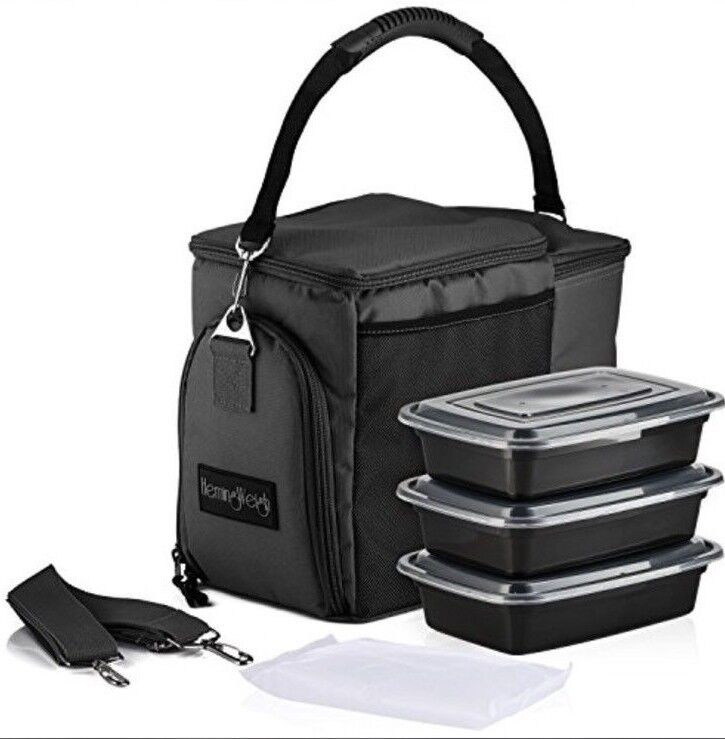 Insulated Lunch Bag – Durable Lunch Box with Drink Cooler
