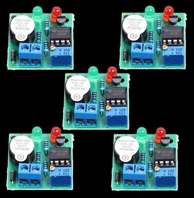 5PCS LM358 LOW VOLTAGE ALARM BUZZER UNDER VOLTAGE PROTECTION MODULE FOR 12V