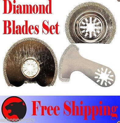 3 Diamond Cut Oscillating Multi Tool Blade For Dremel Mm20 Makita Fein Bosch