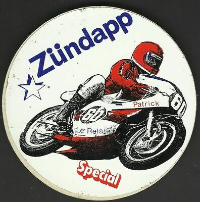 Moto ZUNDAPP ancien sticker autocollant