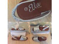Silver open toe sandals