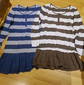 2 x Ladies tunic tops from next size 16