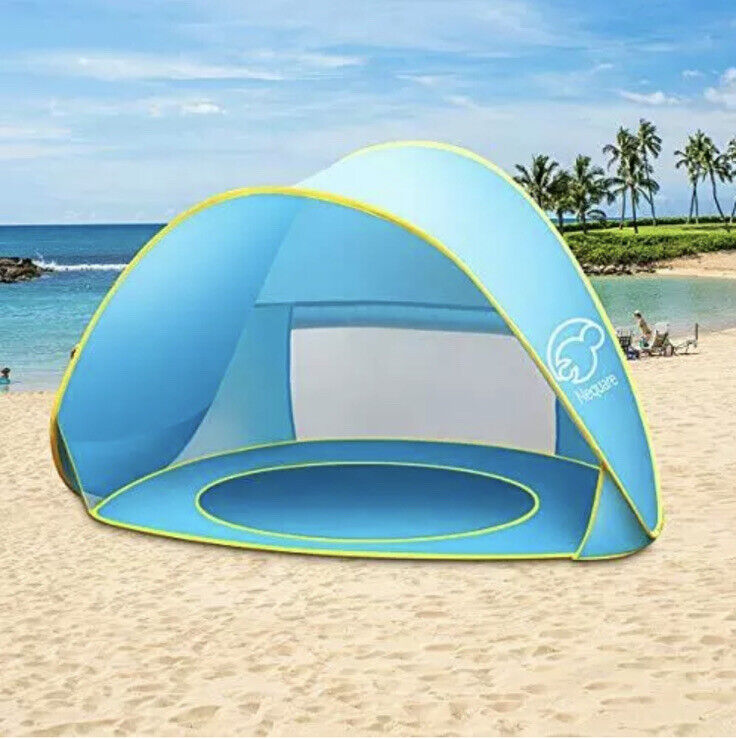 NEQUARE Baby Beach Tent Pop Up Tent Baby Beach Pool Sun Shelter UV Protection