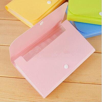 File Bag Pouch Bills Receipts Folder Card Holder Organizer Fastener Sm