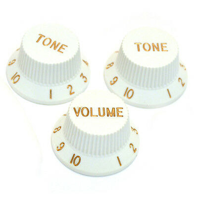 *NEW CONTROL KNOBS for Fender Standard Stratocaster Strat Guitar Parts White