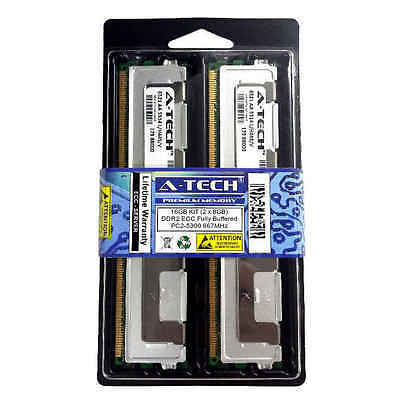 16GB KIT 2 x 8GB DIMM DDR2 ECC Fully Buffered PC2-5300 667MHz 667 MHz Ram Memory