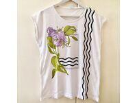 Cotton Long T-Shirt Size M