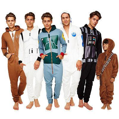 Storm Trooper Anzug (Star Wars Jumpsuit mit Kapuze Vader Jedi R2D2 Stormtrooper Anzug Overall neu)