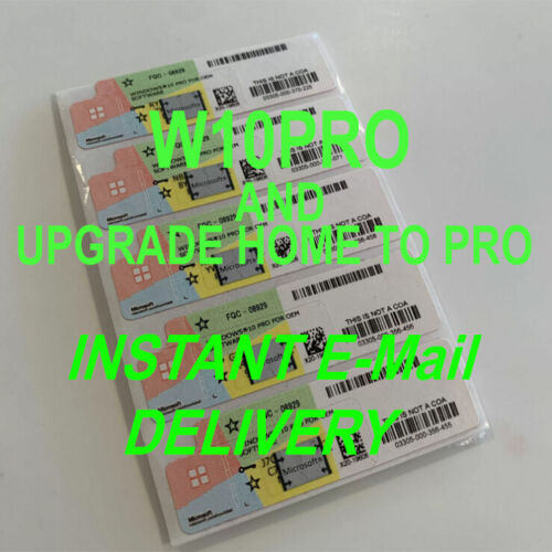 Activation Кеy Windоws 10 PRO 32/64bit and Upgrade HOME TO PRO