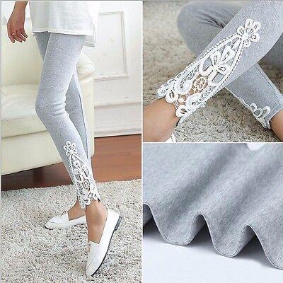 Fashion Women's Sexy Lace Stretchy Skinny Cotton High Waist Leggings Pants Sale