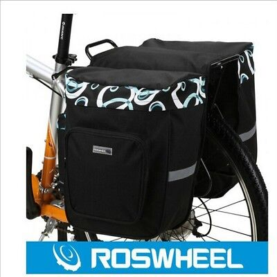 30L Bike Cycling Bag Double Side Rear Rack Tail Seat Bag Pannier Best