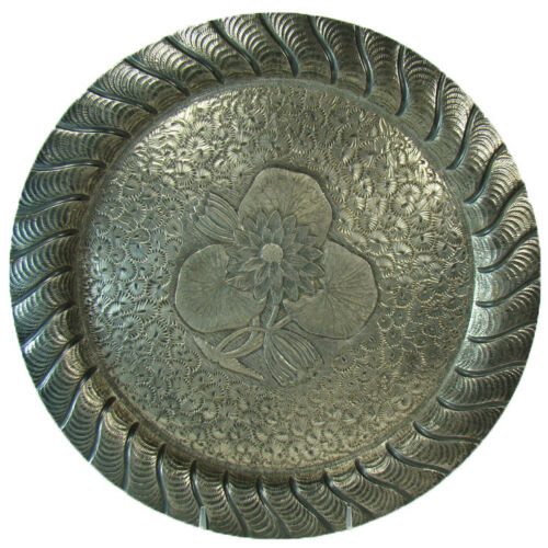 Meriden Silver Plated Hand-Chased Serving Tray - 1880