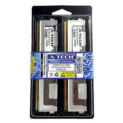 Blade Memory Kit - 4GB KIT 2 x 2GB HP Compaq ProLiant BL20p G4 BL460c BL460c G4 Blade Ram Memory