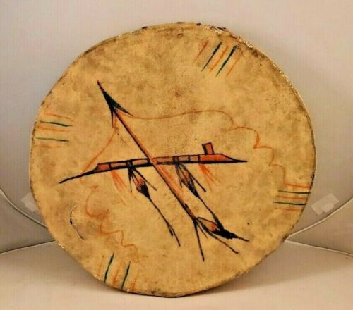 OLDER PLAINS INDIAN HAND DRUM