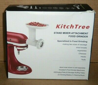 Pre-owned Kitchtree Stand Mixer Attachment Food Grinder White Unsealed Nib