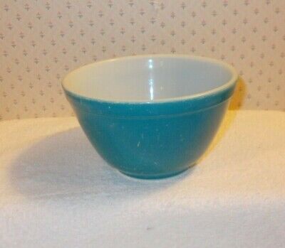 Vintage Pyrex 401 Blue Primary Colors 1-1/2 Pint Small Nesting Mixing -