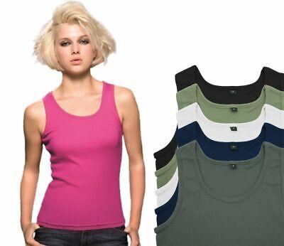 MANTIS WORLD Tank Top Damen Basic Shirt Oberteil Rib Top - Rib Tank Top