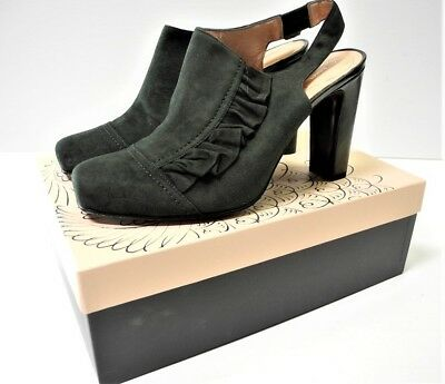 NANETTE LEPORE French Maid Suede Booties Original Box Size 10 MSRP $350.00 (Maid Shoes)