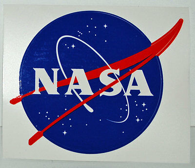 Official NASA Space Program Logo Sticker - New - 4x4¾ inches