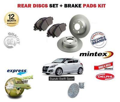 NEW Genuine Suzuki SWIFT SPORT 2011-2017 REAR BRAKE DISC DISCS Pair 55611-61M00