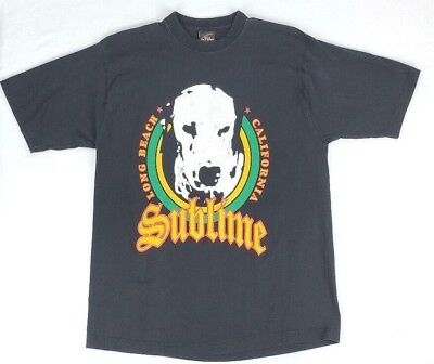 SUBLIME T Tee Shirt XL Lou Dog Long Beach California Black Rock Band   California Dog T-shirt
