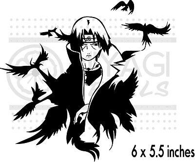 Naruto - Itachi -  Crows - anime - vinyl decal sticker