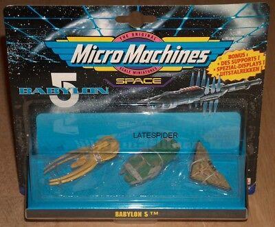 BABYLON 5 micro machines Set 2 SEALED 1990's Vorlon Cruiser Narn Transport