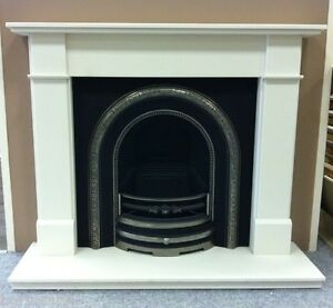 Marco Honed White Victorian Cast Fireplace Package inc Gas Fire