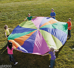 12-Ft-Kids-Play-Parachute-w-Handles-Outdoor-Game-Toy-w-Carry-Case